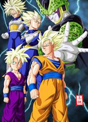 Dragon Ball Kai Cell Saga by SnaKou