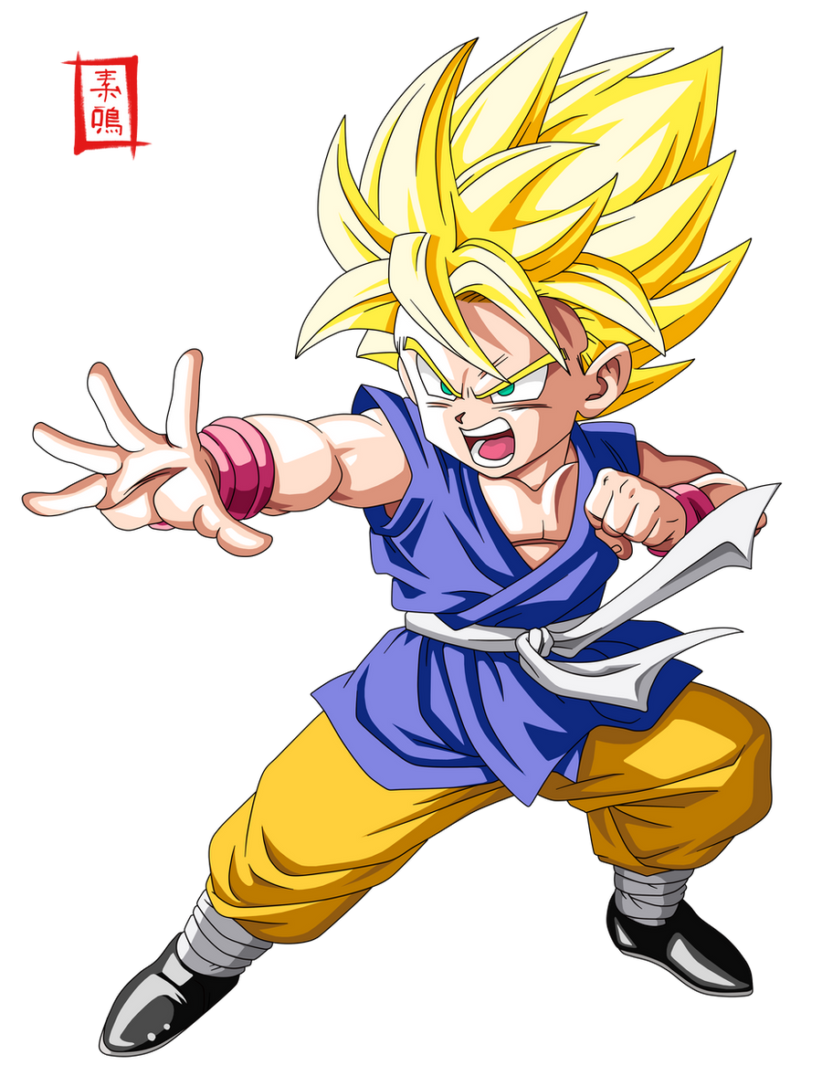 Dragon Ball GT SSJ Kid Goku by SnaKou on DeviantArt