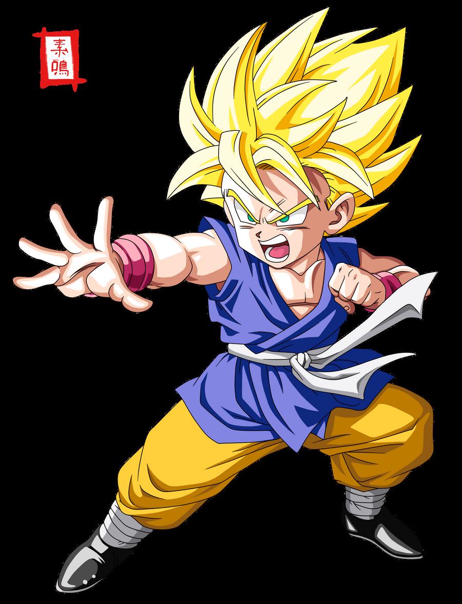 Dragon Ball GT SSJ Kid Goku by SnaKou on DeviantArt