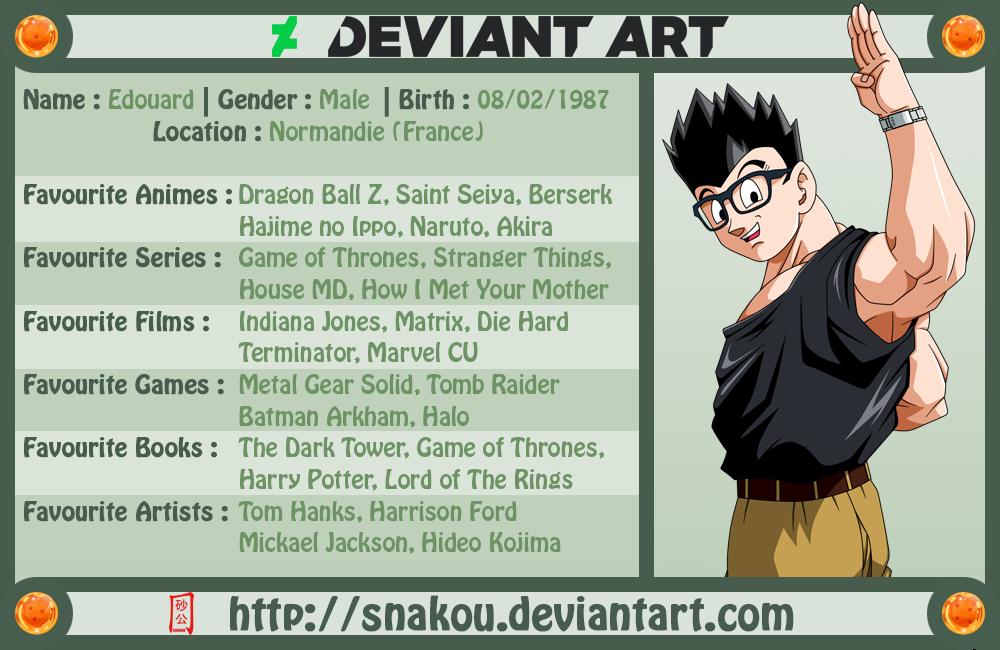 My DeviantArt Card 2019