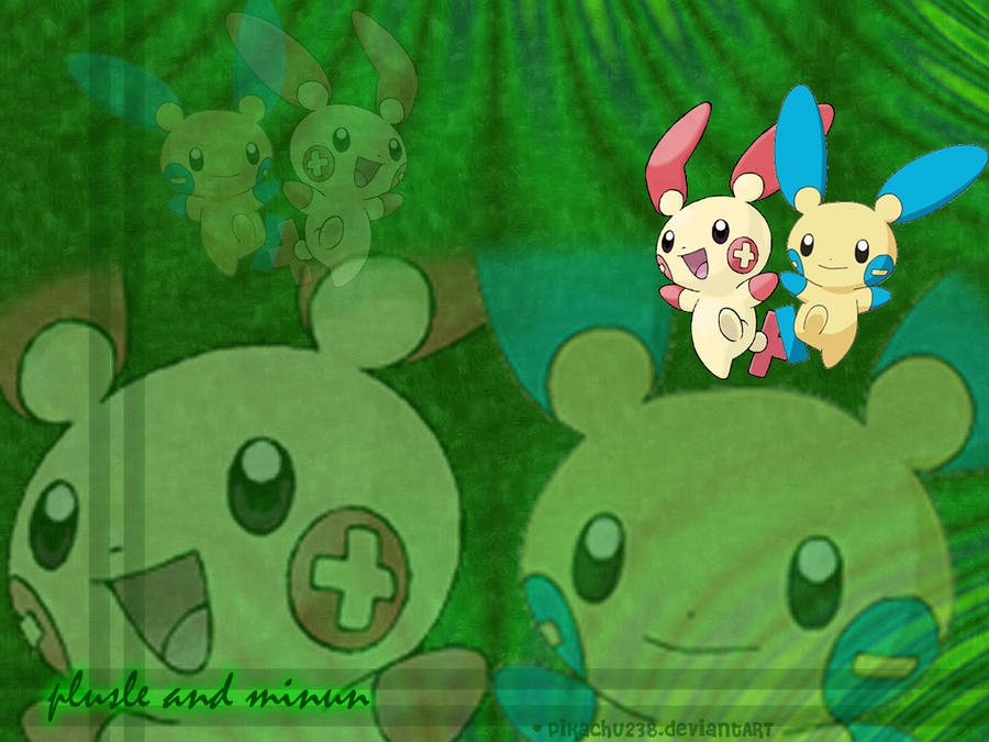 Plusle And Minun Wallpaper Plusle and Minun Wallp...