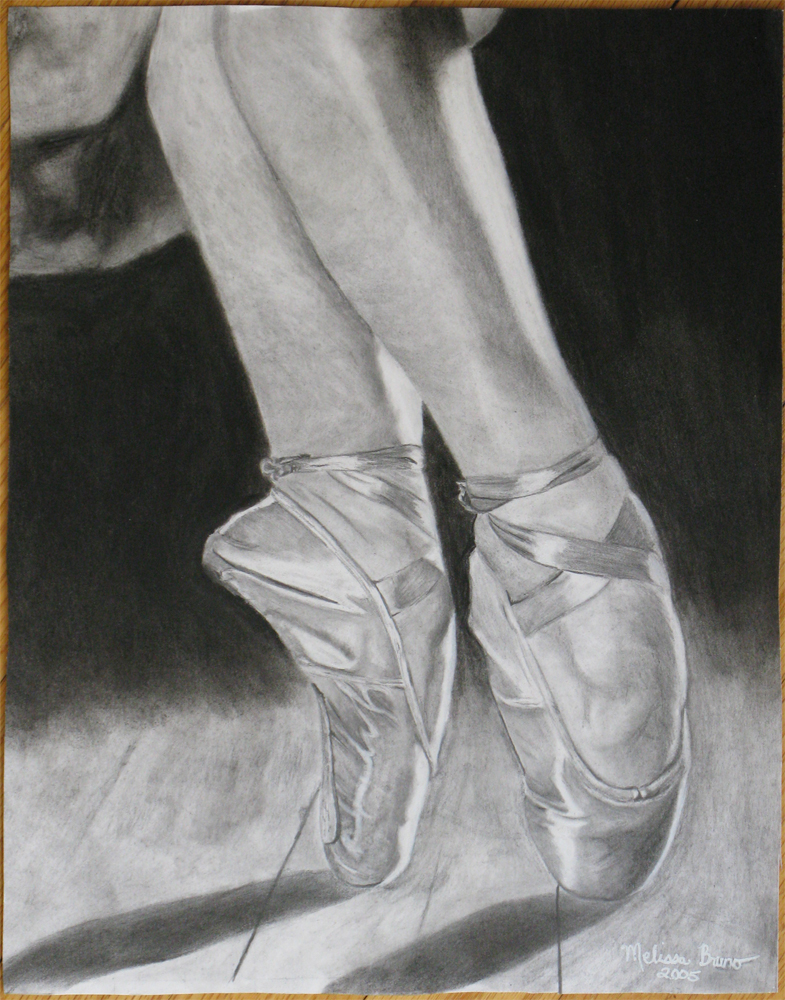 Pointe Shoe Drawing at GetDrawingscom  Free for personal