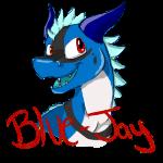 Blue-Jay Character  Badge by DragonCartoons