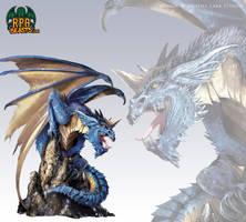 Blue dragon - DnD illustration