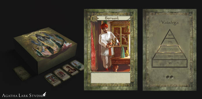 Reincarnation board game art design - Servant card