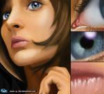 face girl by a-bahrami