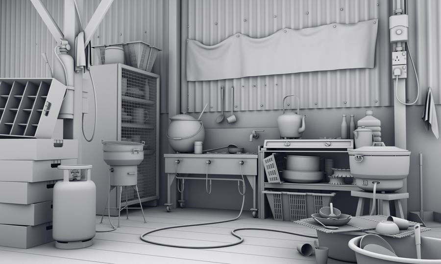 kitchen model by hongrenjoe