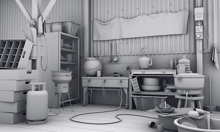 kitchen model by hongrenjoe