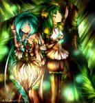 Forest of fireflies