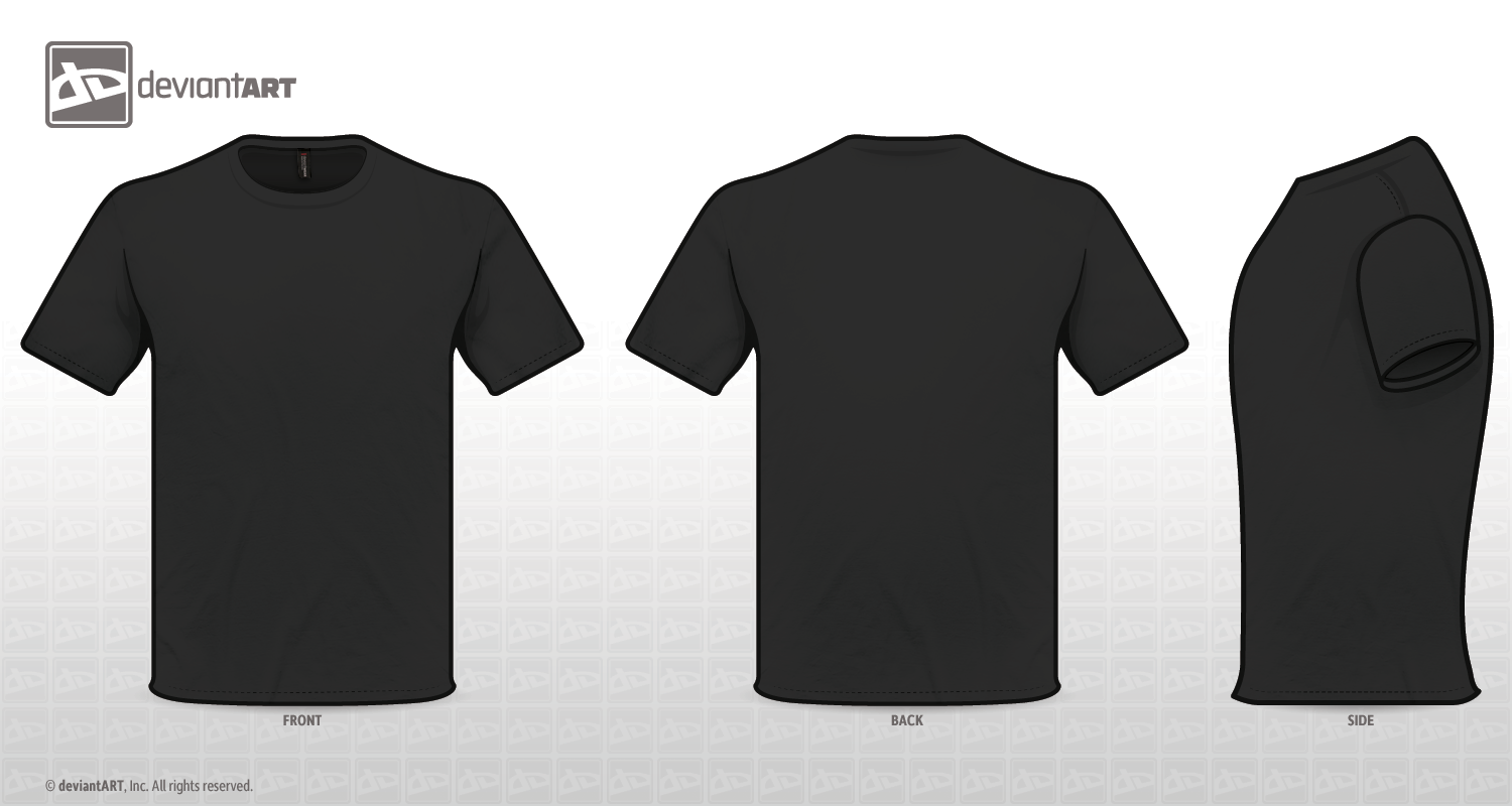 Black t shirt vector template - Search Results For T Shirt Psd Template Front And Back Jaktheme