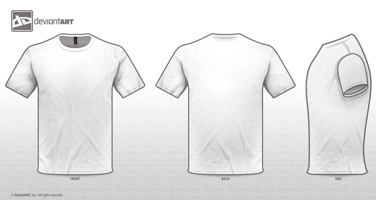 White T Shirt Template Png - klejonka
