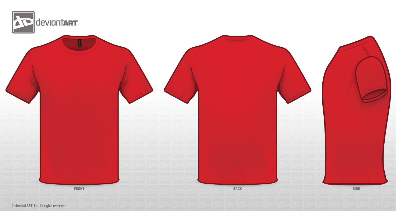 T shirt front and back red