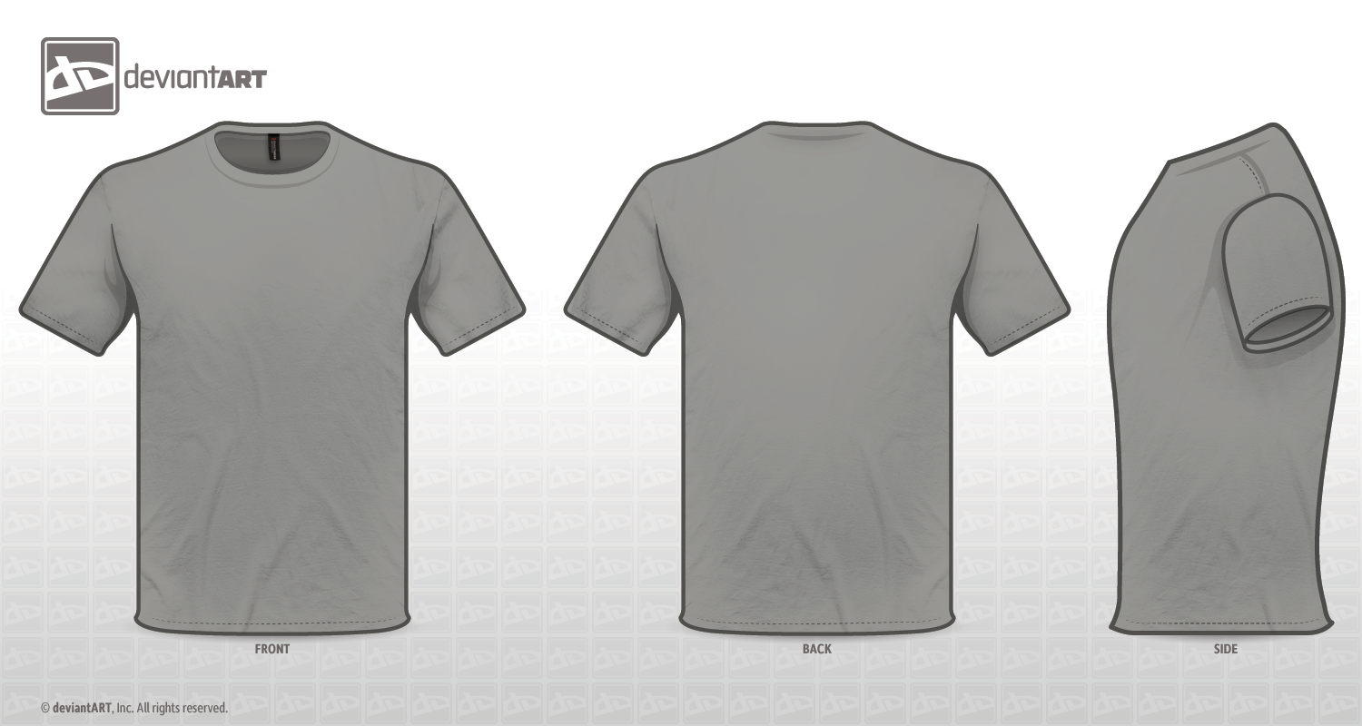 Grey Tee Template PNG by sleeprobber