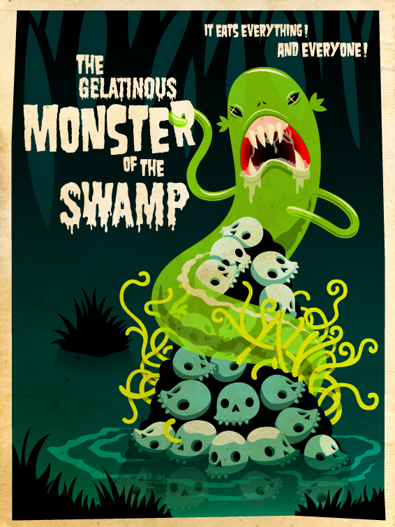The monster of the swamp by grelin-machin