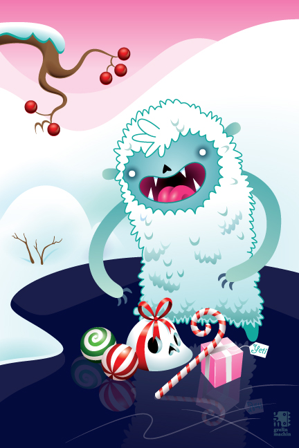 Merry Christmas Yeti by grelin-machin on DeviantArt