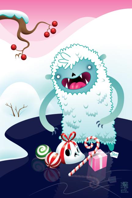Merry Christmas Yeti by grelin-machin on DeviantArt