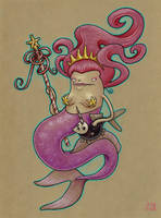 Queen Mermaid - sketch by grelin-machin