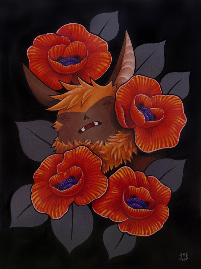 Poppy bat by grelin machin on deviantart - Bat and poppy wallpaper ...