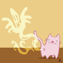 farting cat by grelin-machin