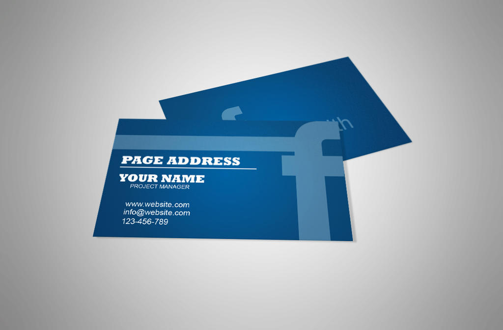 Free Business Card Template For Facebook Page By Designsbee On DeviantArt