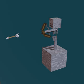 Minecraft Skeleton _ Blender