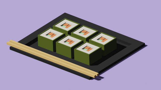 Low-poly sushi