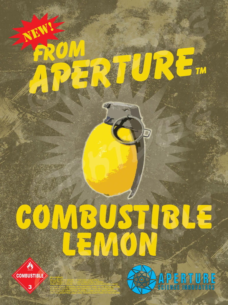 Combustible Lemons Poster by RKTDWG