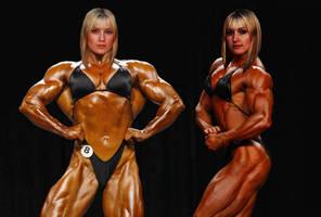 The Muscle Harp Twins by femcepsfan