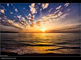 Ordinary Beach Sunset
