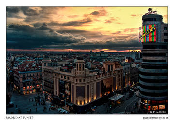 Madrid at Sunset by Marcello-Paoli