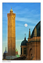 Moon and Towers by Marcello-Paoli
