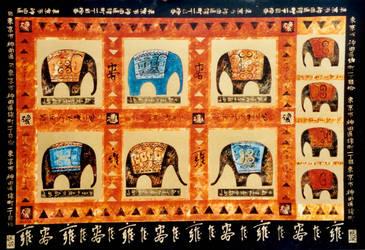 Chinese elephants by amalia51