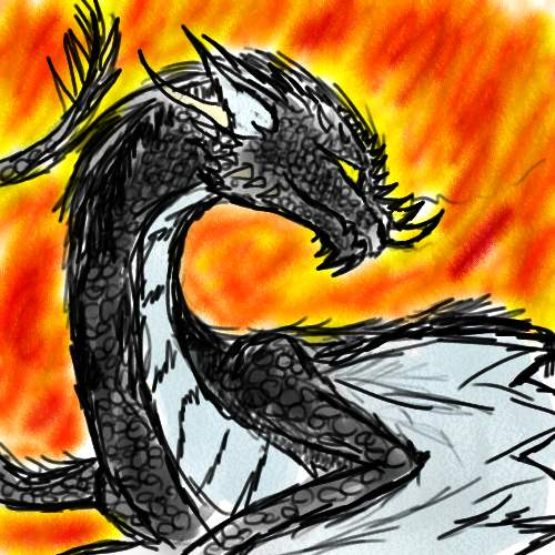 Dark Dragon by melaniedragon