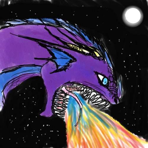 Purple Dragon by melaniedragon