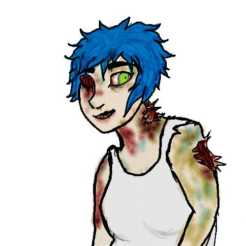 Mel as a zombie by melaniedragon
