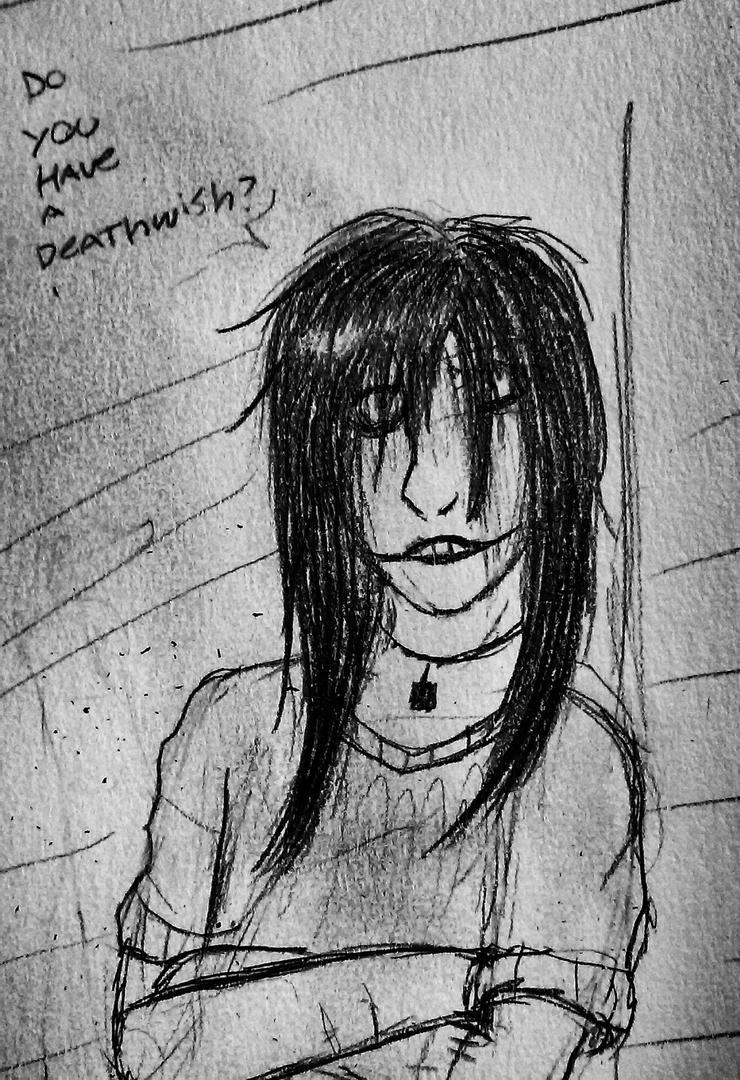 Jeff the killer sketch by melaniedragon