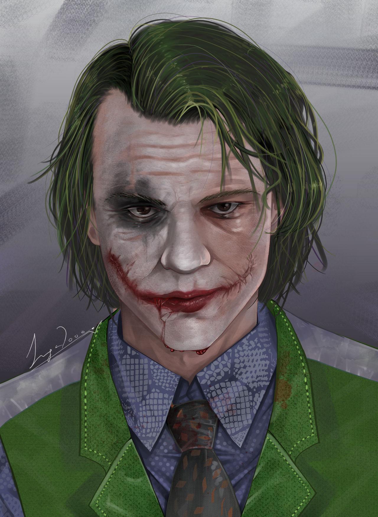 Heath Ledger -The Joker by Inga2000