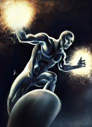 Surfing the Cosmic Currents - The Silver Surfer