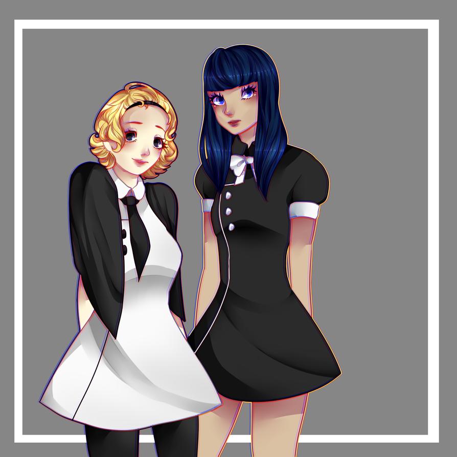 cute girls.... by Waruhi-tan