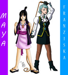 PW - Maya and Franziska by Sting-Chameleon