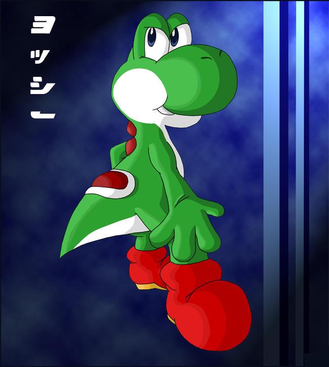 Yoshi posing by Sting-Chameleon