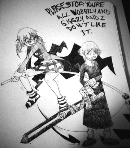 Soul Eater Maka Vs Crona By Bambusterrr On Deviantart