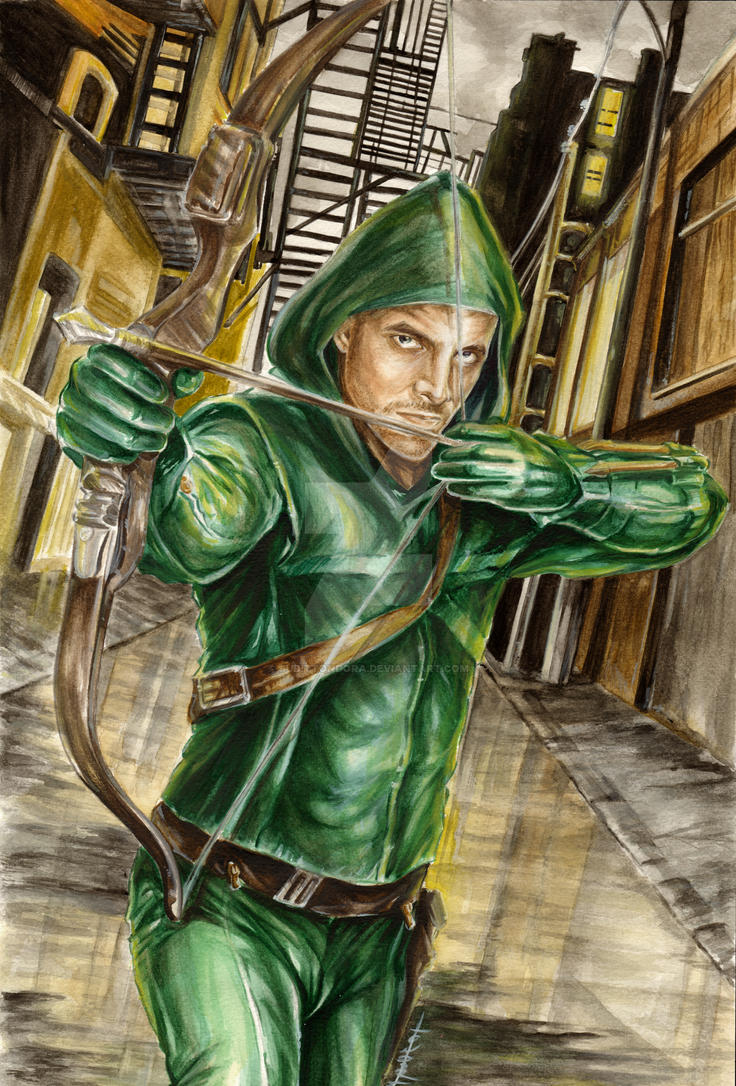Arrow- Oliver Queen commission by judittondora