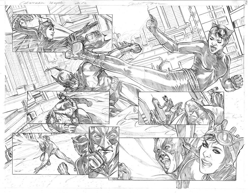 Catwoman pencils pg15-16 by judittondora