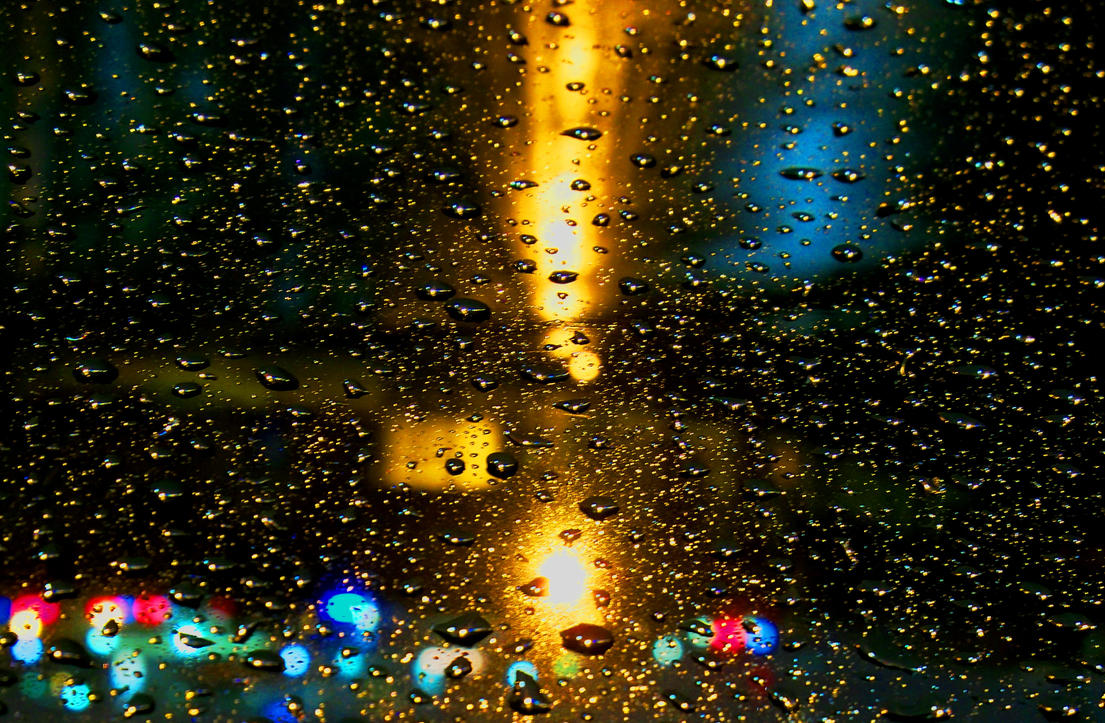 rainy car night by levoniust