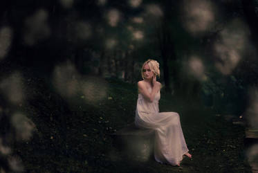 girl on the bench by marijasmanja