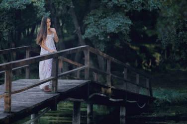 girl on the bridge by marijasmanja