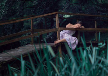girl on bridge II by marijasmanja