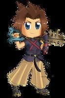 Kingdom Hearts - Terra Chibi by Kanokawa
