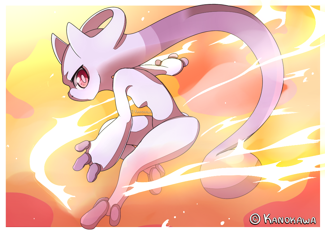 Pokemon - Sixth Gen's Mewtwo by Kanokawa
